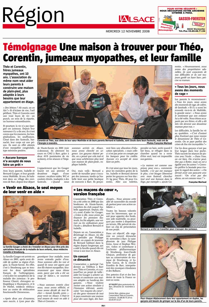 article dans l'Alsace